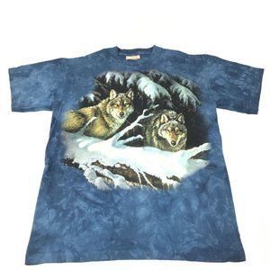 Vintage The Mountain Wolf Tie Dye Graphic T-Shirt